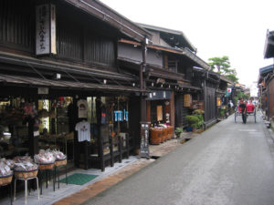 street (of stores and houses)